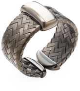 Roberto Coin Mother of Pearl & Blackened Silver Woven Bangle Bracelet