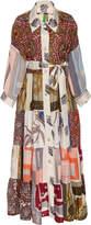 Of A Kind Rianna + Nina Exclusive Silk One Volant Shirt Dress
