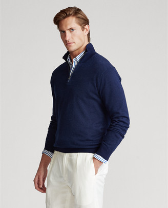 Ralph Lauren Birdseye Cotton-Blend Sweater