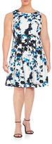 Ivanka Trump Plus Printed Fit-and-Flare Dress