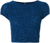 Alice + Olivia Alice+Olivia sequined cropped top