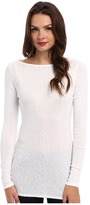 Michael Stars Slub Long Sleeves Boatneck Tunic