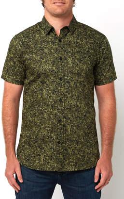 Tavik Porter Short Sleeve Woven Button Down Shirt Camo L