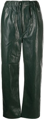 Chloè Stora Faux-Leather Straight Trousers