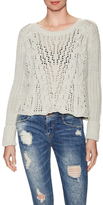 Free People Cotton Cross Cable Sweater