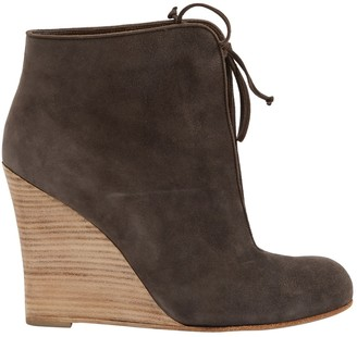 Christian Louboutin Grey Suede Ankle boots