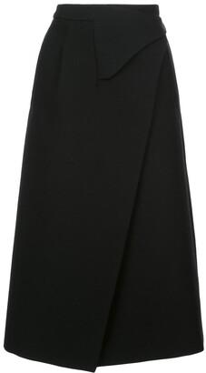 Wardrobe.Nyc x The Woolmark Company Release 05 wrap midi skirt