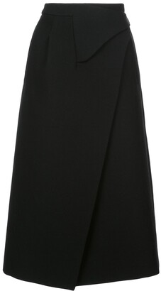 Wardrobe NYC x The Woolmark Company Release 05 wrap midi skirt