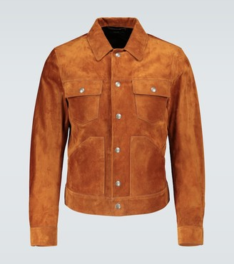 Tom Ford Boxy-fit suede jacket