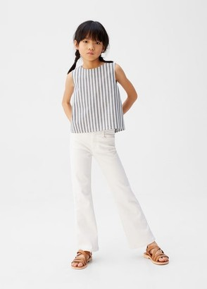 MANGO Striped crop top sand - 5 - Kids