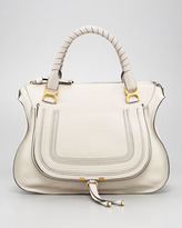 Chloe Marcie Large Shoulder Bag, Dove