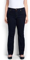 Classic Women's Plus Size Mid Rise Straight Leg Jeans-Heritage Indigo Wash