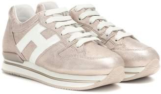 Hogan H222 metallic leather sneakers