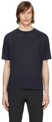 Ermenegildo Zegna Navy Knit T-Shirt