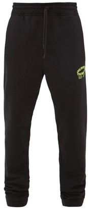 Marcelo Burlon County of Milan Otro Mundo-print Cotton-jersey Track Pants - Black Yellow