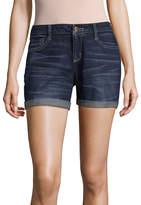 Arizona 4 1/2 Roll Cuff Midi Shorts-Juniors
