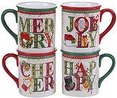 Certified International Winter Garden 4-Piece Latte Mug Set