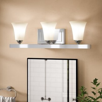 Andover Mills Hendrix 3-Light Dimmable Vanity Light Finish: Polished Chrome