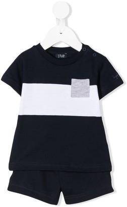 Il Gufo colour-block T-shirt and shorts set