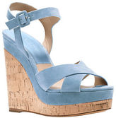 Michael Kors Cate Leather Platform Wedge Sandals