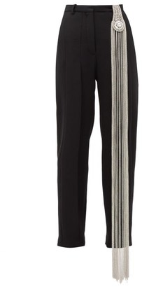 Christopher Kane Crystal Tailored Trousers - Womens - Black