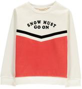 Hundred Pieces Snow Must Go On Sweatshirt
