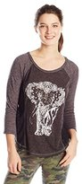Miss Me Junior's Elephant Graphic 3/4 Sleeve Top