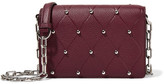 Alexander Wang Attica Biker Studded Textured-leather Shoulder Bag - Burgundy