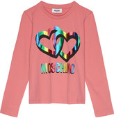Moschino Two hearts logo long-sleeved top 4-14 years