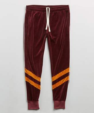 Todd Snyder Velour Track Pant in Mustard
