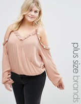 Alice & You Cold Shoulder Coin Detail Top