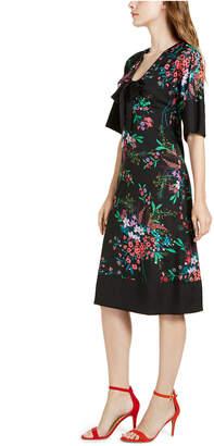 Trina Turk Trina Bow Floral-Print A-Line Dress