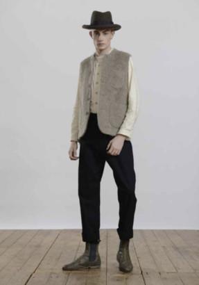 Workhouse England - 100 Mohair Gilet Waistcoat - M / Grey