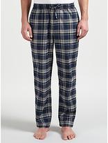 Hugo Boss Boss Cotton Check Pyjama Bottoms, Navy