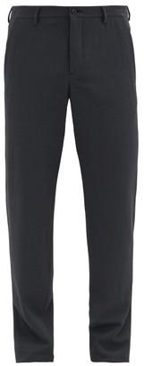 Giorgio Armani Tailored Wool-blend Seersucker Trousers - Grey