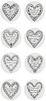 Fornasetti Set Of 8 Love Porcelain Coasters