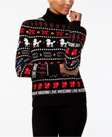 Love Moschino Printed Turtleneck Sweater