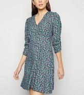 New Look Ditsy Floral V Neck Mini Dress