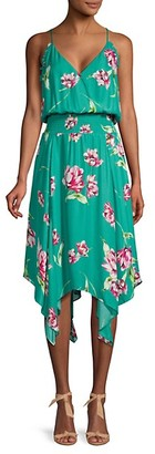 Parker Nolen Floral Flowy Sleeveless Dress