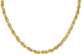 "Italian Gold 18"" Bold Singapore Link Necklace,14K"