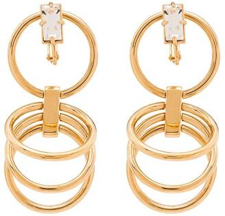 Panconesi Gold Vermeil Crystal Hoop Earrings