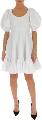 Alexander McQueen Puff Sleeve Flared Dress