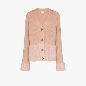 Moncler Colour Block Ribbed Cardigan