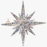 John Lewis Triple Star Diamante Brooch, Silver