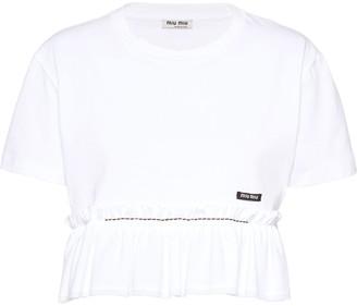 Miu Miu ruffled T-shirt