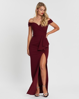 Bariano Eloise Off-Shoulder Gown