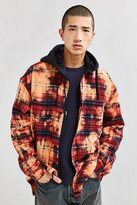 Urban Outfitters Bleached Hooded Flannel Button-Down Shirt