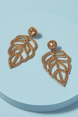 Deepa Juliana Leaf Drop Earrings