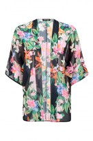 Select Fashion Fashion Womens Black Tropical Butterfly Kimono - size 10