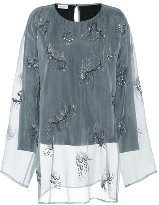 Dries Van Noten Embellished organza top